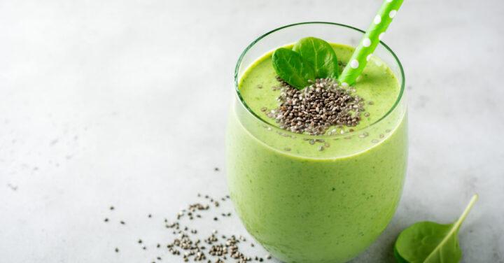 Rezept: Grüner Smoothie mit Chia-Samen