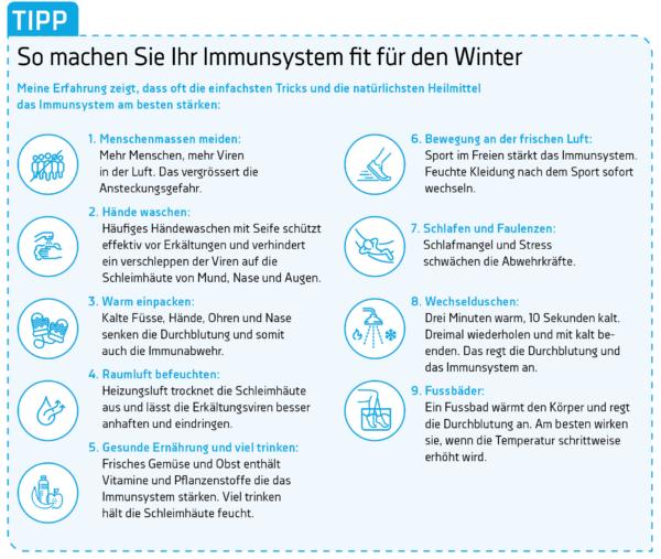 So machen Sie ihre Immunsystem fit für den Winter